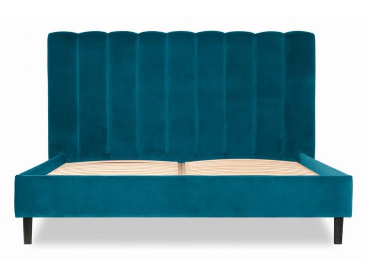 Łóżko Magnolia (160X200) welurowe (Welur bawełna 100% CZARNY :welur/CZARNY) Łóżko tapicerowane Pojemnik na pościel Bez pojemnika Kategoria Łóżka do sypialni