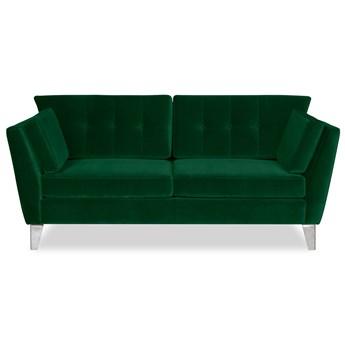 Sofa Irisar 2-osobowa welurowa (Welur bawełna 100% ZIELONY :welur/ZIELONY)