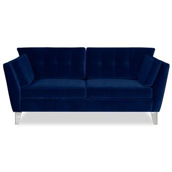 Sofa Irisar 2-osobowa welurowa (Welur bawełna 100%  GRANATOWY :welur/GRANATOWY)