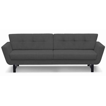 Sofa Astrar 3-osobowa (Bawełna 63%, len 37% |ANTRACYT :len bawełna/antracyt)