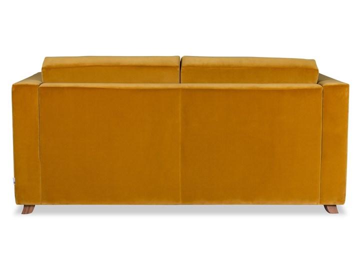Sofa Narcisser 2-osobowa Welurowa z funkcją spania (Welur bawełna 100% CIEMNOZIELONY :welur/CIEMNOZIELONY) Boki Z bokami Stała konstrukcja Nóżki Na nóżkach