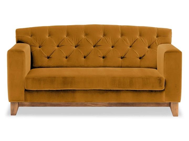 Sofa Ros 2-osobowa Welurowa (Welur bawełna 100% OLIWKOWY :welur/OLIWKOWY) Stała konstrukcja Kategoria Sofy i kanapy