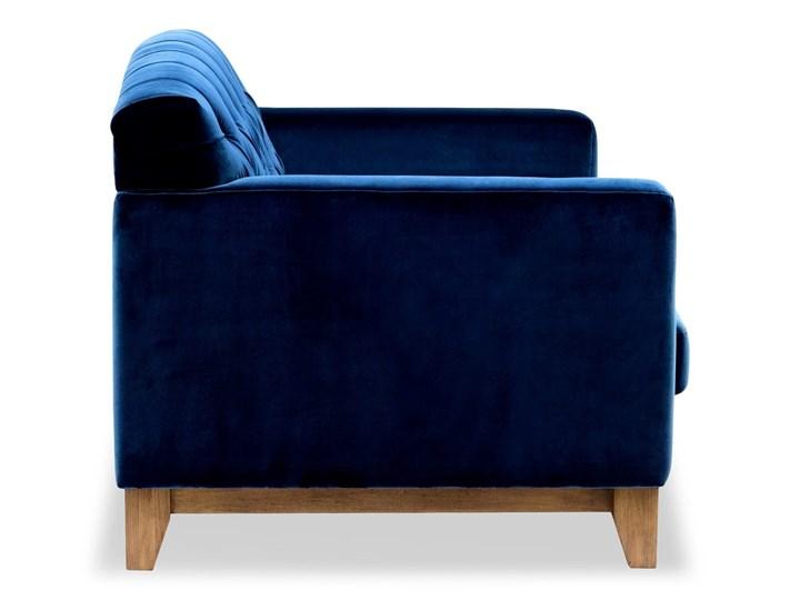 Sofa Ros 2-osobowa Welurowa (Welur bawełna 100% OLIWKOWY :welur/OLIWKOWY) Nóżki Na nóżkach Stała konstrukcja Materiał obicia Tkanina