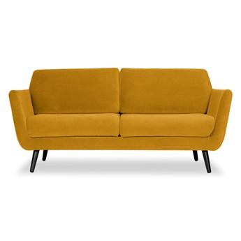 Sofa Aster 2-osobowa Welurowa (Welur bawełna 100% MUSZTARDOWY 2219 :welur/MUSZTARDOWY)