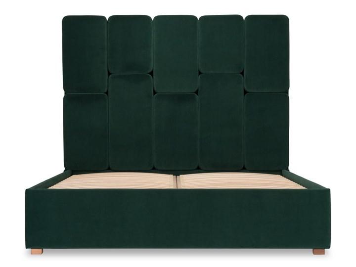 Łóżko Snödroppe (160x200) welurowe  (Welur bawełna 100% CIEMNOZIELONY :welur/CIEMNOZIELONY) Kategoria Łóżka do sypialni Łóżko tapicerowane Rozmiar materaca 160x200 cm