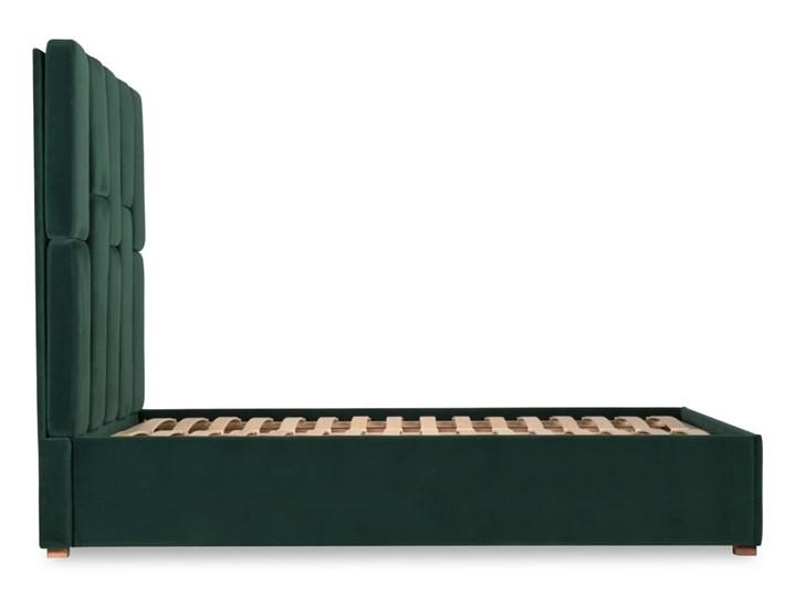 Łóżko Snödroppe (160x200) welurowe  (Welur bawełna 100% CIEMNOZIELONY :welur/CIEMNOZIELONY) Łóżko tapicerowane Rozmiar materaca 160x200 cm Kategoria Łóżka do sypialni