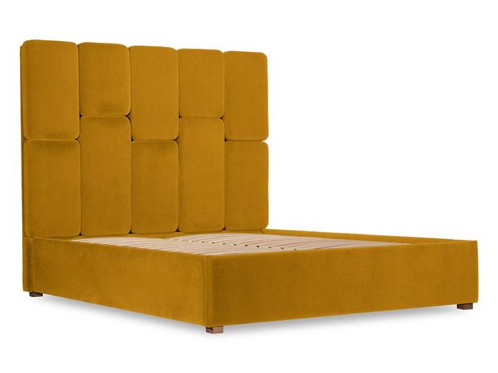 Łóżko Snödroppe (160x200) welurowe  (Welur bawełna 100% CIEMNOZIELONY :welur/CIEMNOZIELONY) Łóżko tapicerowane Kategoria Łóżka do sypialni