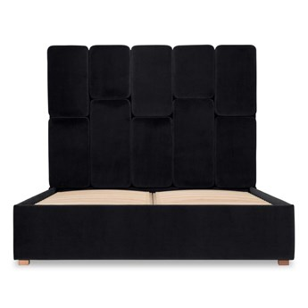 Łóżko Snödroppe (160x200) welurowe  (Deluxe - welur łatwozmywalny WOOD :deluxe/WOOD)