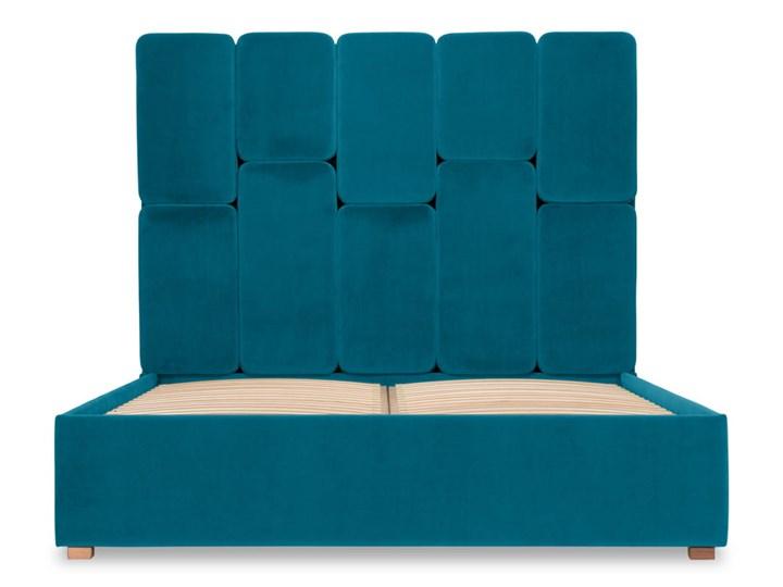 Łóżko Snödroppe (160x200) welurowe  (Welur bawełna 100% CIEMNOZIELONY :welur/CIEMNOZIELONY) Rozmiar materaca 160x200 cm Łóżko tapicerowane Kategoria Łóżka do sypialni