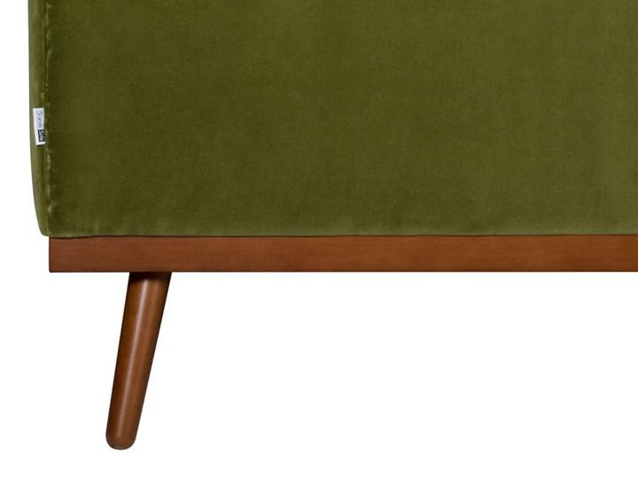 Sofa Klematisar 3-osobowa Welurowa z funkcją spania  (Deluxe - welur łatwozmywalny PEACOCK :deluxe/PEACOCK) Głębokość 91 cm Stała konstrukcja Typ Gładkie Pomieszczenie Salon