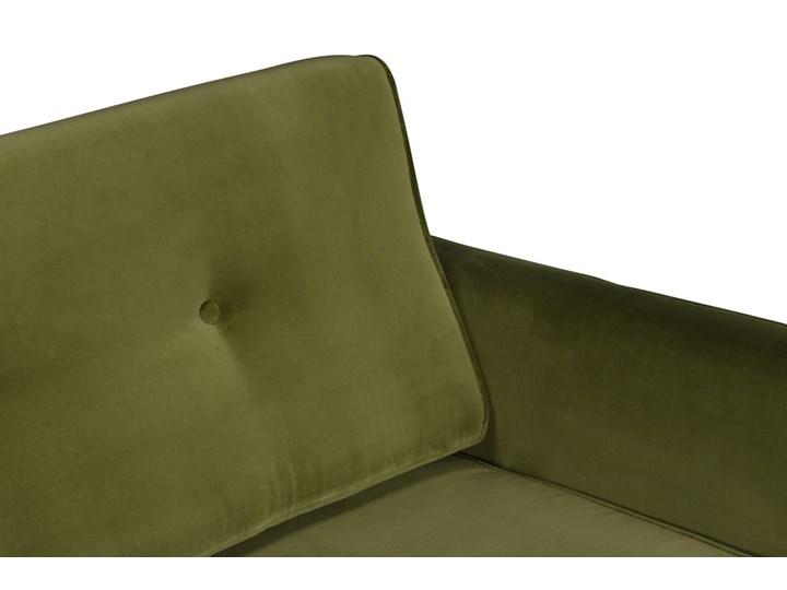 Sofa Klematisar 3-osobowa Welurowa z funkcją spania  (Deluxe - welur łatwozmywalny PEACOCK :deluxe/PEACOCK) Stała konstrukcja Głębokość 91 cm Nóżki Na nóżkach