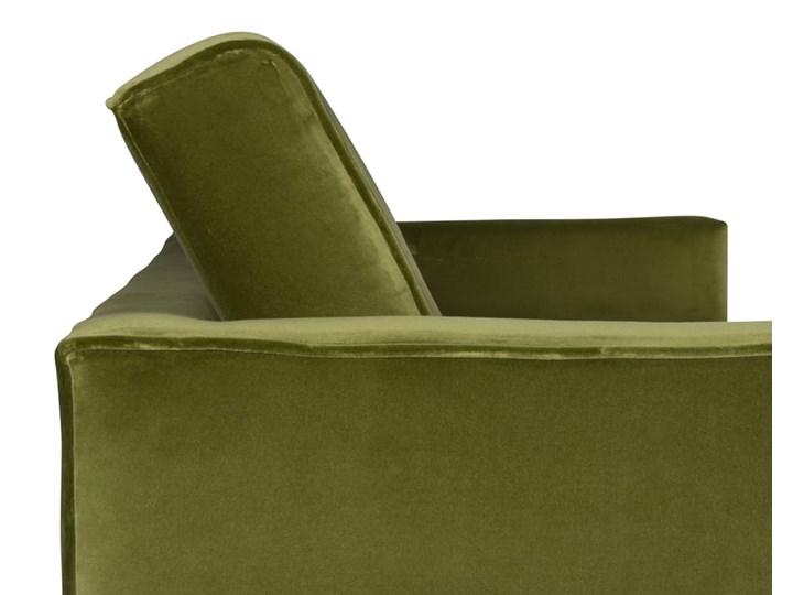 Sofa Klematisar 3-osobowa Welurowa z funkcją spania  (Deluxe - welur łatwozmywalny PEACOCK :deluxe/PEACOCK) Stała konstrukcja Głębokość 91 cm Kolor Zielony
