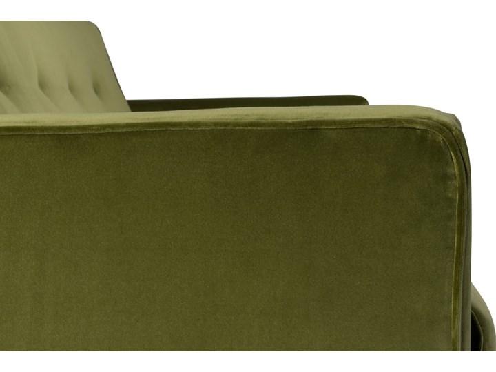 Sofa Klematisar 3-osobowa Welurowa z funkcją spania  (Deluxe - welur łatwozmywalny PEACOCK :deluxe/PEACOCK) Głębokość 91 cm Stała konstrukcja Styl Nowoczesny Boki Z bokami