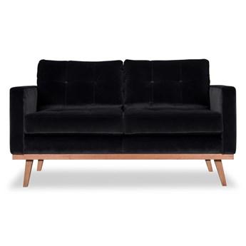 Sofa Fern 2-osobowa welurowa (Deluxe - welur łatwozmywalny CHARCOAL :deluxe/CHARCOAL)