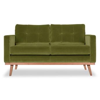 Sofa Fern 2-osobowa welurowa (Welur bawełna 100% OLIWKOWY :welur/OLIWKOWY)