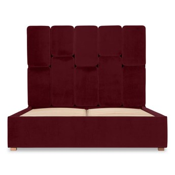 Łóżko Snödroppe (160x200) welurowe  (Deluxe - welur łatwozmywalny SIENA :deluxe/SIENA)
