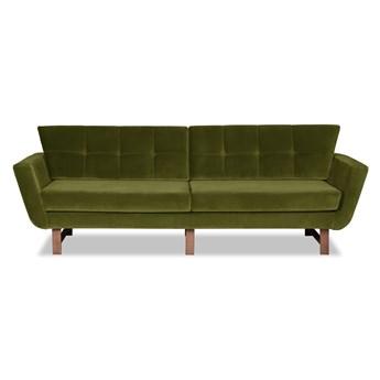 Sofa Astrar 3-osobowa Welurowa (Welur bawełna 100% OLIWKOWY :welur/OLIWKOWY)