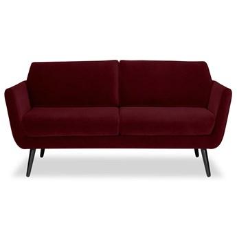Sofa Aster 2-osobowa Welurowa (Welur bawełna 100% BORDOWY :welur/BORDOWY)