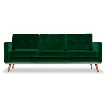 Sofa Fern 3-osobowa Welurowa z funkcją spania (Welur bawełna 100% ZIELONY :welur/ZIELONY)