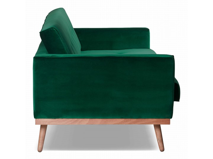 Sofa Klematisar 3-osobowa Welurowa z funkcją spania  (Deluxe - welur łatwozmywalny PEACOCK :deluxe/PEACOCK) Głębokość 91 cm Stała konstrukcja Kategoria Sofy i kanapy Kolor Zielony