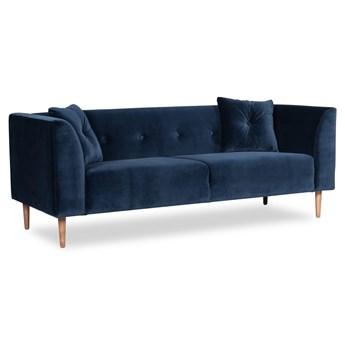 Sofa Ginster 3-osobowa Welurowa  (Deluxe - welur łatwozmywalny INDIGO :deluxe/INDIGO)