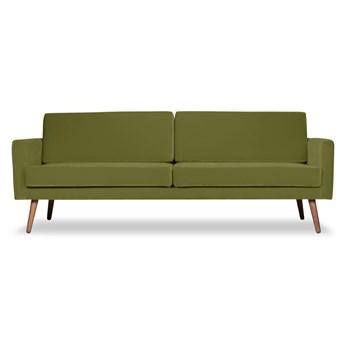 Sofa Glädje 3-osobowa welurowa (Welur bawełna 100% OLIWKOWY :welur/OLIWKOWY)