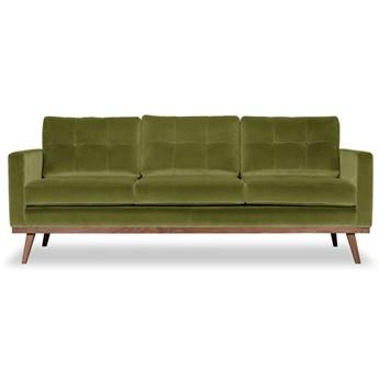 Sofa Fern 3-osobowa welurowa (Welur bawełna 100% OLIWKOWY :welur/OLIWKOWY)