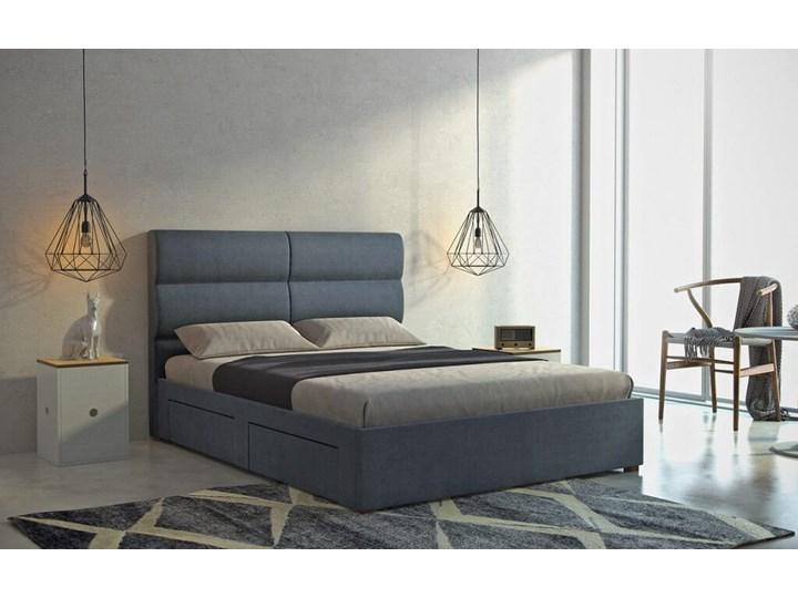 Łóżko Klöver (160X200) z pojemnikiem na pościel (Colourwash Shark :colourwash/shark) Łóżko tapicerowane Kategoria Łóżka do sypialni