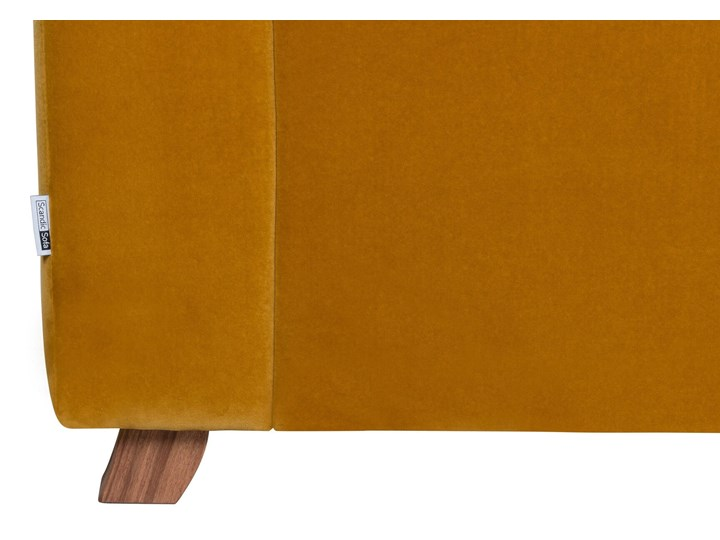 Sofa Narcisser 2-osobowa Welurowa z funkcją spania (Welur bawełna 100% CIEMNOZIELONY :welur/CIEMNOZIELONY) Stała konstrukcja Pomieszczenie Salon