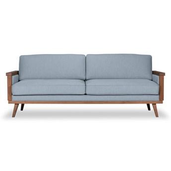 Sofa Orkidé 3-osobowa z funkcją spania (Bawełna 63%, len 37% PUDROWY NIEBIESKI :len bawełna/pudrowy niebieski)