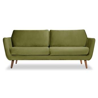 Sofa Aster 3-osobowa welurowa (Welur bawełna 100% OLIWKOWY :welur/OLIWKOWY)