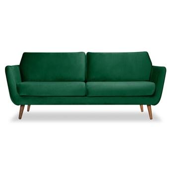 Sofa Aster 3-osobowa welurowa (Welur bawełna 100% ZIELONY :welur/ZIELONY)