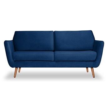 Sofa Aster 2-osobowa Welurowa (Deluxe - welur łatwozmywalny INDIGO :deluxe/INDIGO)