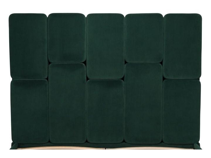 Łóżko Snödroppe (200x200) welurowe  (Welur bawełna 100% CZARNY :welur/CZARNY) Łóżko tapicerowane Pojemnik na pościel Bez pojemnika Kategoria Łóżka do sypialni