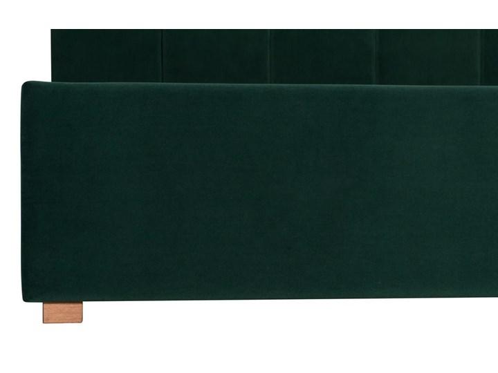 Łóżko Snödroppe (200x200) welurowe  (Welur bawełna 100% |GRANATOWY :welur/GRANATOWY) Łóżko tapicerowane Kategoria Łóżka do sypialni