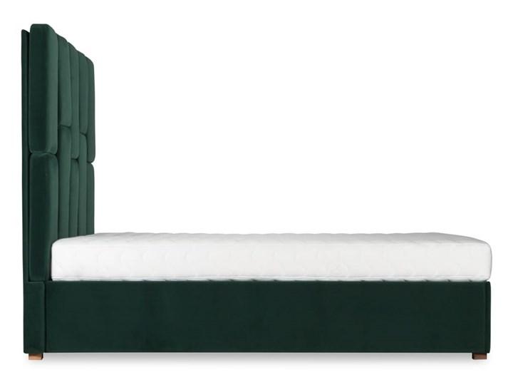 Łóżko Snödroppe (200x200) welurowe  (Welur bawełna 100% CZARNY :welur/CZARNY) Łóżko tapicerowane Kategoria Łóżka do sypialni Pojemnik na pościel Bez pojemnika