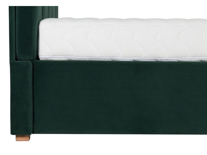 Łóżko Snödroppe (200x200) welurowe  (Welur bawełna 100% CZARNY :welur/CZARNY) Kategoria Łóżka do sypialni Łóżko tapicerowane Pojemnik na pościel Bez pojemnika