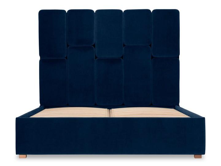 Łóżko Snödroppe (200x200) welurowe  (Welur bawełna 100% CZARNY :welur/CZARNY) Łóżko tapicerowane Kategoria Łóżka do sypialni