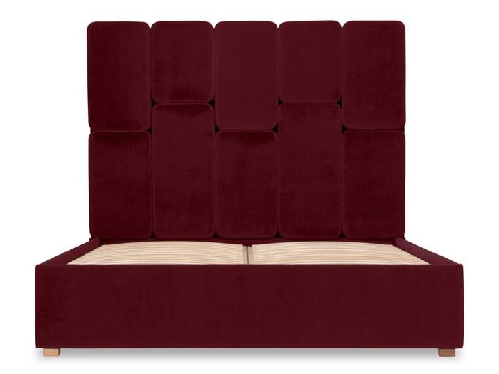 Łóżko Snödroppe (200x200) welurowe  (Welur bawełna 100% |GRANATOWY :welur/GRANATOWY) Łóżko tapicerowane Pojemnik na pościel Bez pojemnika Kategoria Łóżka do sypialni