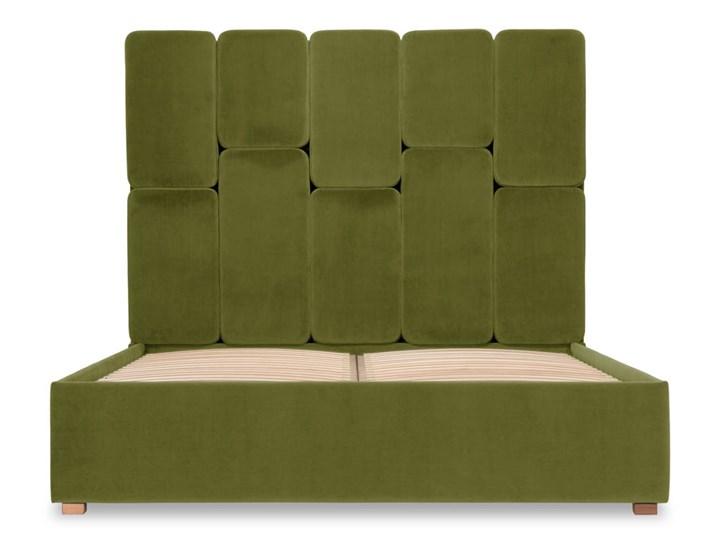 Łóżko Snödroppe (200x200) welurowe  (Welur bawełna 100% |GRANATOWY :welur/GRANATOWY) Łóżko tapicerowane Kategoria Łóżka do sypialni Pojemnik na pościel Bez pojemnika
