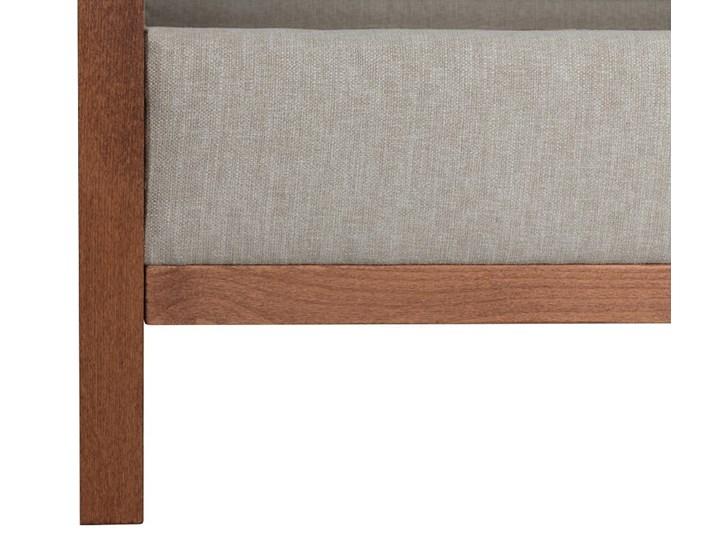 Łóżko Klematisar BERGEN (180x200)   (Bravehear |Chinchilla :braveheart/chinchilla) Łóżko drewniane Łóżko tapicerowane Pojemnik na pościel Bez pojemnika