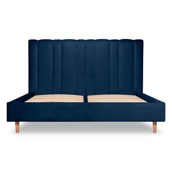 Łóżko Dahlia (160X200) welurowe (Welur bawełna 100% |GRANATOWY :welur/GRANATOWY)