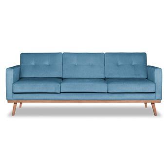 Sofa Fern 3-osobowa Welurowa z funkcją spania (Deluxe - welur łatwozmywalny SKY :deluxe/SKY)