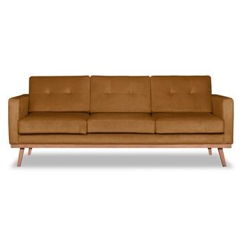 Sofa Fern 3-osobowa welurowa (Deluxe - welur łatwozmywalny WOOD :deluxe/WOOD)