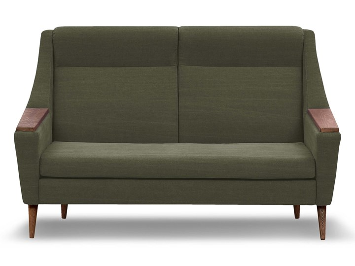 Sofa Rubusar 2-osobowa (Bawełna 63%, len 37% JASNOSZARY :len bawełna/jasnoszary) Stała konstrukcja Nóżki Na nóżkach Powierzchnia spania