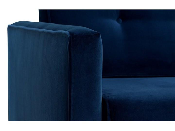 Sofa Klematisar 3-osobowa Welurowa z funkcją spania  (Deluxe - welur łatwozmywalny PEACOCK :deluxe/PEACOCK) Stała konstrukcja Głębokość 91 cm Styl Klasyczny Typ Gładkie