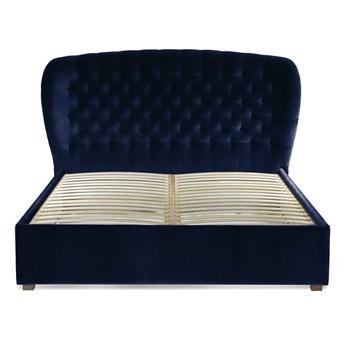 Łóżko Lavender (160X200) welurowe  (Deluxe - welur łatwozmywalny INDIGO :deluxe/INDIGO)
