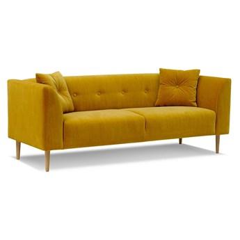 Sofa Ginster 3-osobowa Welurowa  (Welur bawełna 100% MUSZTARDOWY 2219 :welur/MUSZTARDOWY)