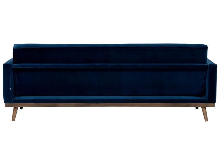 Sofa Klematisar 3-osobowa Welurowa z funkcją spania  (Deluxe - welur łatwozmywalny PEACOCK :deluxe/PEACOCK) Stała konstrukcja Głębokość 91 cm Typ Gładkie