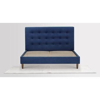 Łóżko Solrosor (160X200)  (Bawełna 63%, len 37% JASNOSZARY :len bawełna/jasnoszary)